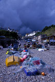 Storm Brewing over Beer fishing village. In the English county of Devon on 24 August 2009 Royalty Free Stock Images
