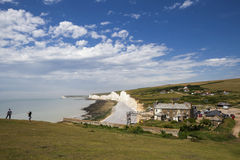 Storm brewing over the Seven Sisters in Sussex on June 12, 2008 Stock Photography