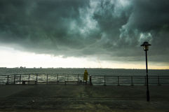Storm brewing at seaside Royalty Free Stock Photography