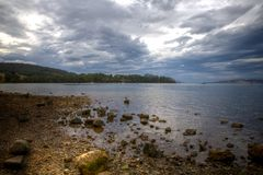 Storm Brewing - Woodbridge,South Tasmania Royalty Free Stock Photo