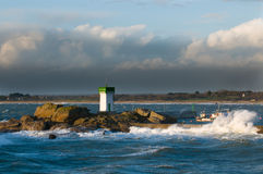 Storm in brittany. Near concarneau Royalty Free Stock Image