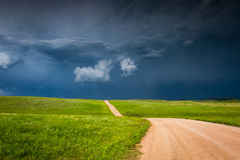 Storm building up in the prairie Stock Photography