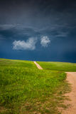 Storm building up in the prairie Stock Photo