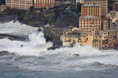Storm in camogli 2 stock image