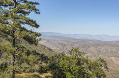 Storm Canyon and Laguna Mountains California. View of Storm Canyon and the Laguna Mountains seen from Cleveland National Forest, San Diego County, California stock photo