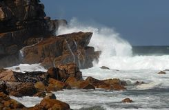 Storm at Cape of Good Hope. It is the most South-Western point of the African Continent and a popular tourist attraction with a number of excursions from royalty free stock photography