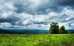 Before Storm. Capture the dramatic scenario before storm, Shenandoah National Park Royalty Free Stock Photography
