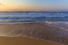 Storm on the Caspian Sea coast near Baku royalty free stock images