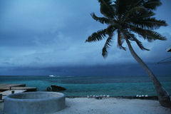 Storm in caye Royalty Free Stock Photo