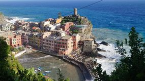 Storm in the Cinque Terre royalty free stock photography