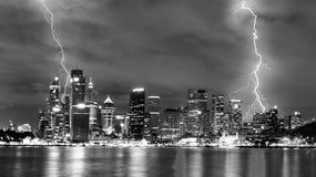 Storm in the city Royalty Free Stock Images