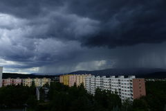 Storm in city.  Royalty Free Stock Photography