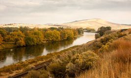 Storm Clearing Over Agricultural Land Yakima River Central stock photo