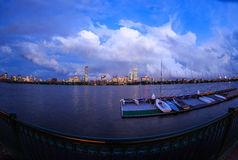 Storm Clearing over Boston's Back Bay Skyline Royalty Free Stock Images