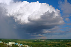 Storm cloud. Landscape with storm cloud. taken  in Vladimir (Russia). August 2010. Landscape orientation Royalty Free Stock Photos