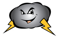 Storm cloud. Cartoon illustration of a storm cloud Royalty Free Stock Photography