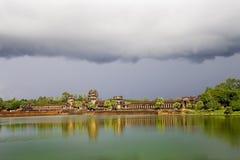Storm Cloud Above Angkor Wat Stock Image