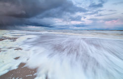 Storm cloud approaching the North sea Stock Image