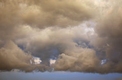 Storm cloud. And blue sky royalty free stock photography