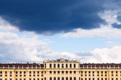 Storm cloud in blue sky over Schonbrunn palace Royalty Free Stock Photo
