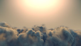 Storm cloud during dirty weather 3d rendering Stock Images