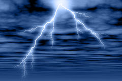 Storm Cloud & Lightning. Stormy clouds and lightning Royalty Free Stock Image