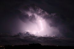 Storm cloud with lightning Royalty Free Stock Images