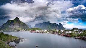 Storm cloud - Lofoten archipelago Royalty Free Stock Photography