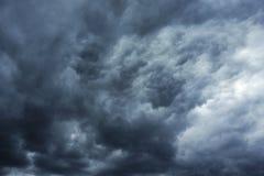 Storm cloud. Ominous dark abstract storm cloud Stock Image