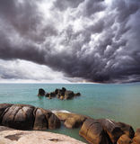 Storm cloud over the southern sea Royalty Free Stock Images