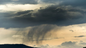 Storm Cloud with purring rain Royalty Free Stock Photo