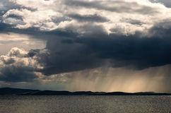 Storm cloud with rain Royalty Free Stock Images