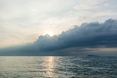Storm cloud in the tropics Royalty Free Stock Photography