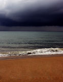Storm clouds. Loopable Storm clouds on the beach side Royalty Free Stock Photography