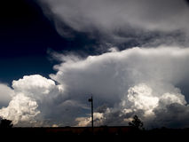 Storm Clouds 2. Thunderhead rears up over horizon Stock Photos
