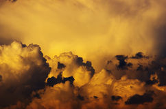 Storm clouds. View of storm clouds at sunset Stock Photography
