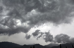 Storm clouds. Storm approaching over Italian mountains Royalty Free Stock Image