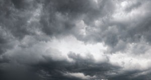 Storm clouds. Overcast sky with storm clouds. Four shots composite picture Royalty Free Stock Images