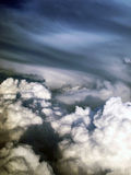 Storm clouds. A view from the plane Stock Photos