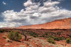 Storm Clouds. Rolling across Capital Reef Park, Utah Royalty Free Stock Images
