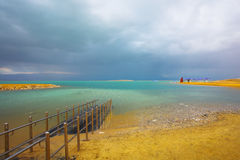 Storm clouds above the Dead Sea Stock Images
