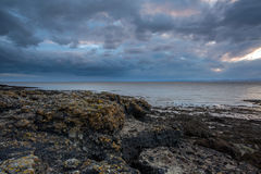Storm clouds. Approaching from the Wales coastline Royalty Free Stock Photography