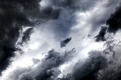 Storm Clouds Background Royalty Free Stock Photos