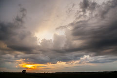 Storm clouds. Bad weather, rainy weather. Royalty Free Stock Photos