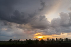 Storm clouds. Bad weather, rainy weather. Stock Image