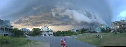 Storm Clouds Brewing. Duck North Carolina an evening storm rolling through Stock Images