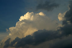 Storm clouds building up. Strom clouds building up over the coast royalty free stock photography