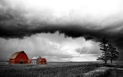 Storm Clouds Canada. Warning ominous skies Saskatchewan stock photos
