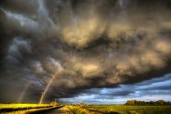 Storm Clouds Canada. Warning ominous skies Saskatchewan stock photography