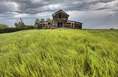 Storm Clouds Canada. Warning ominous skies Saskatchewan royalty free stock photos